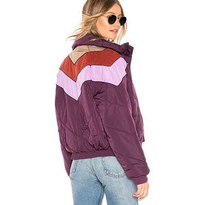 NEW NWT Free People Purple Heidi Ski Puffer Jacket